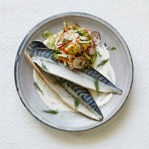 Nathan Outlaw's pickled mackerel with autumn slaw and mustard and dill salad cream.