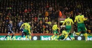 Watford's Gerard Deulofeu slots the ball home!
