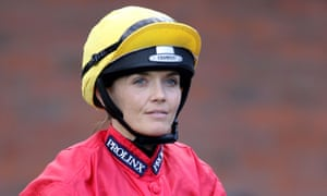 The Olympic cycling champion Victoria Pendleton was riding the favourite in an amateur riders' race at Newbury