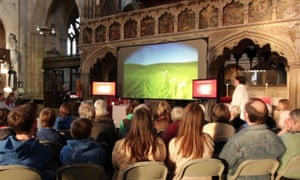 An Exeter Cathedral service using Sony's Flower