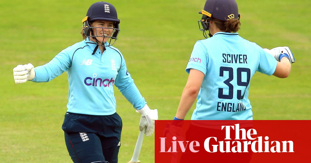 England chasing 202 to beat India: first women's ODI – live!