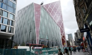 The Nova building in London. The origins of this mangled red mountain can be found in the tortured planning history.