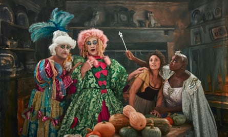 Richard Turner and Jeremy Lee as the Ugly Sisters, Olia Hercules as Cinderella and Andi Oliver as the Fairy Godmother.