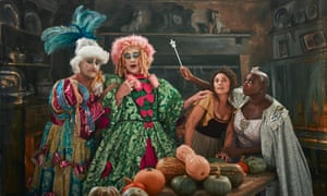 Richard Turner and Jeremy Lee as the Ugly Sisters, Olia Hercules as Cinderella and Andi Oliver as the Fairy Godmother