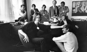 Apple Corps Office in 1968 … Lennon and Derek Taylor are in the foreground.
