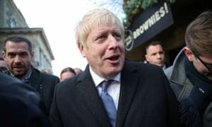 Boris Johnson campaigning in Salisbury on Tuesday