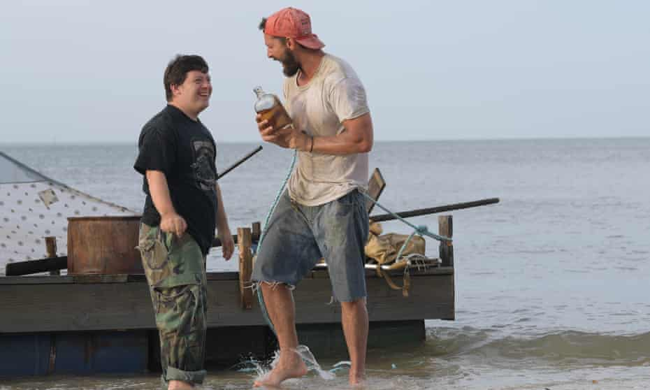Gottsagen and LaBeouf in The Peanut Butter Falcon.