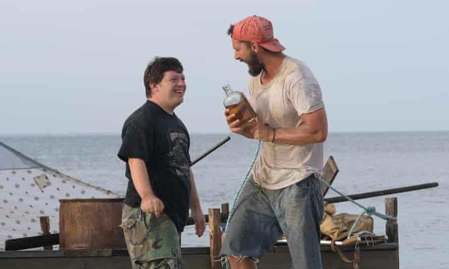 Zack Gottsagen as Zak and Shia LaBeouf as Tyler in The Peanut Butter Falcon.