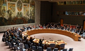 The UN security council meets in New York last Novembe