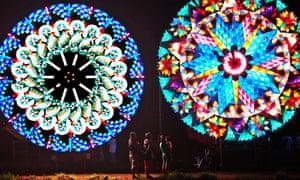 GiantChristmas lanterns light up the city of San Fernando during the Lantern Festival