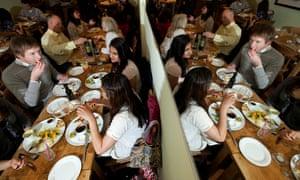 Fine dining … Zilli Green vegetarian restaurant in Soho., London.