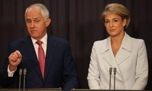 Malcolm Turnbull and Michaelia Cash