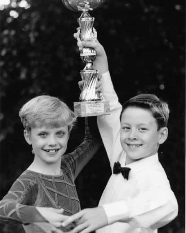 Joanne and Kevin Clifton as child champions.