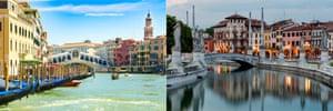 Venice and Padua.