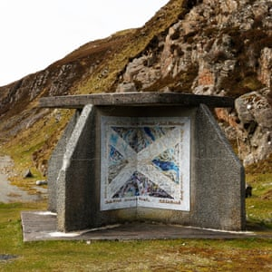A bus shelter at Miabhaig, Uig District