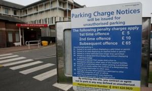Hospital car park charges