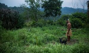 Ari Karai, leader of Tekoa Itakupe, an extremely poor and traditional Guaraní indigenous community at Jaraguá near São Paulo.