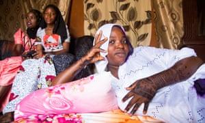 young Nigerien Rakiatou Idi on the day of her marriage