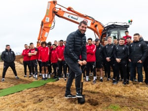 Bristol City chairman Jon Lansdown hosts a ground-breaking ceremony on the site of their new training ground at Failand.