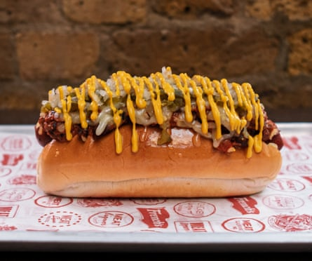 MeatLiquor's vegan hotdog – how it's supposed to look.