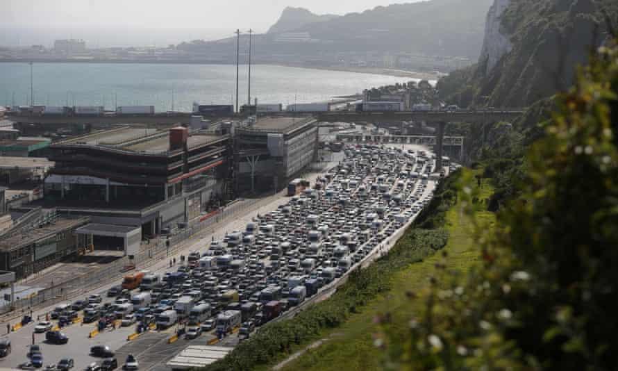 Queue of cars