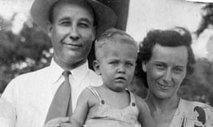 Richard Ford as a child with his parents Parker and Edna Ford