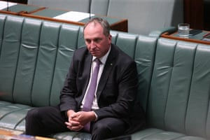 Deputy PM Barnaby Joyce before question time.