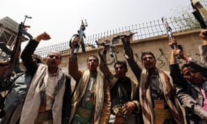 Purchase of US military equipment comes as Saudi-backed government forces have launched a major offensive against the Houthis in the Yemeni capital Sana'a.