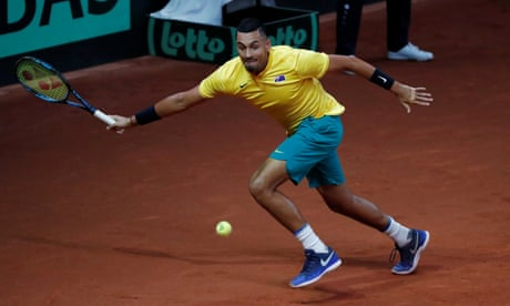 David Goffin 'too good' for Nick Kyrgios as Australia miss out on Davis Cup final