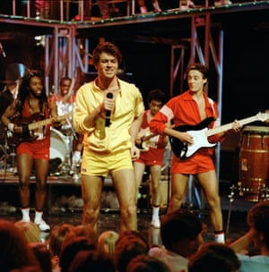 'Andrew didn't have any fear …' Ridgeley, right, with George Michael as Wham! appear on The Tube TV series.