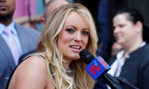 Stormy Daniels speaks during a ceremony in her honor in West Hollywood, California.