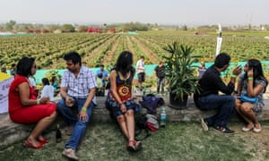 Tasting wines at Sula, India's largest wine producer.