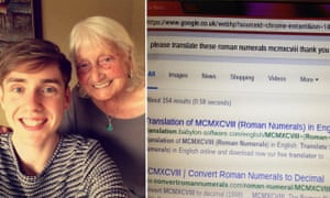 Ben John and his grandmother after a tweet about her use of Google went viral.