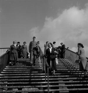 Visitors at the Festival of Britain, 1951. (GNM Archive ref: JHB/1/3/43 box 3)