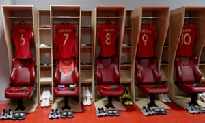 The Portugal dressing room at the 2018 World Cup
