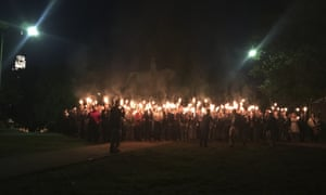 People gather at Lee Park in Charlottesville, Virginia to protest plans to remove the monument on 13 May 2017.