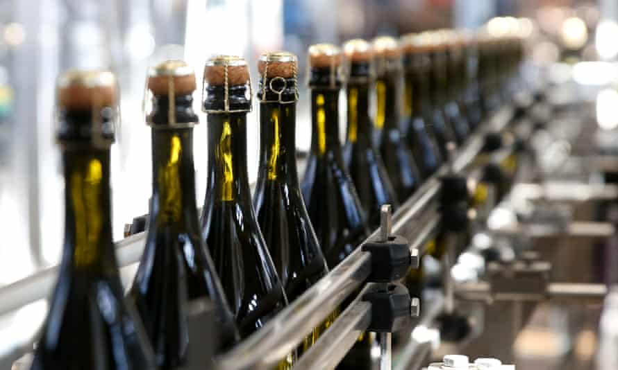 Prosecco being bottled