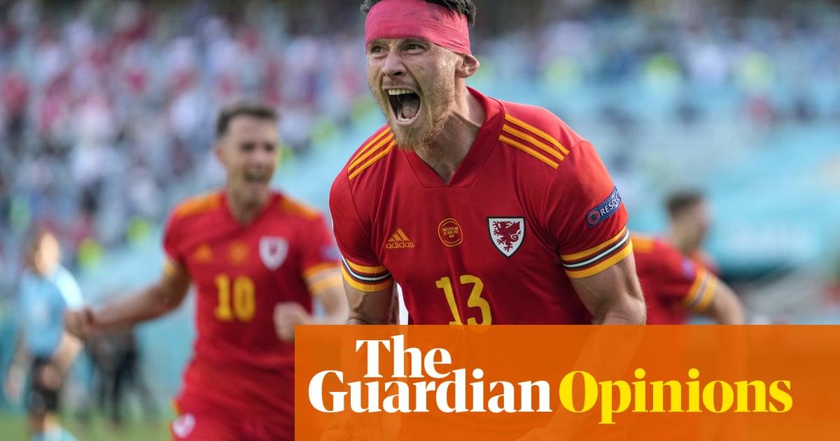 We were in a back garden not Baku, but when Wales scored it was still brilliant