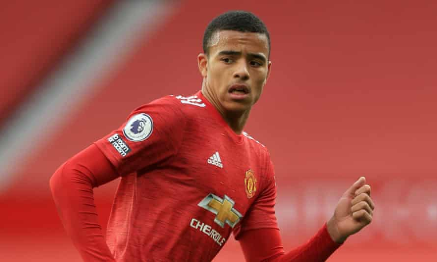 Mason Greenwood in action for Manchester United against Tottenham on 4 October. He has not played since.