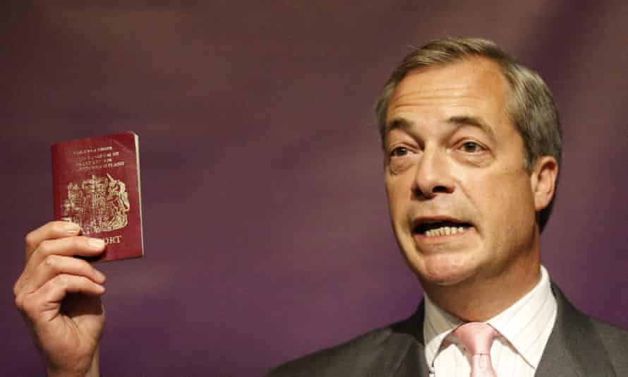 Nigel Farage, leader of the UK Independence party, in London today.