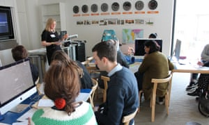 Creating a Reading school workshop with Catherine Millar at the Guardian Education Centre Reading for pleasure conference 5 March 2018.