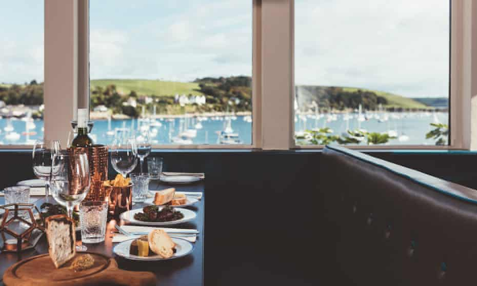 Star & Garter table with a view in Falmouth