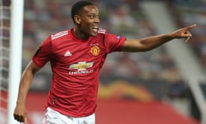 Anthony Martial scored a late winner as Manchester United eased to a 7-1 aggregate win.