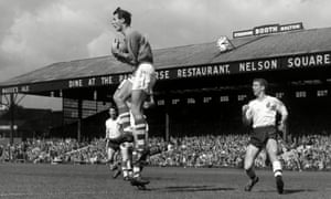 Ipswich goalkeeper Roy Bailey in action against Bolton in September 1962