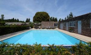 Pool at Beeja Meditation Retreat, Sussex, UK.