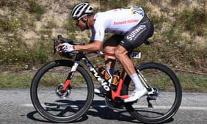 Nico Roche rides in the breakaway.