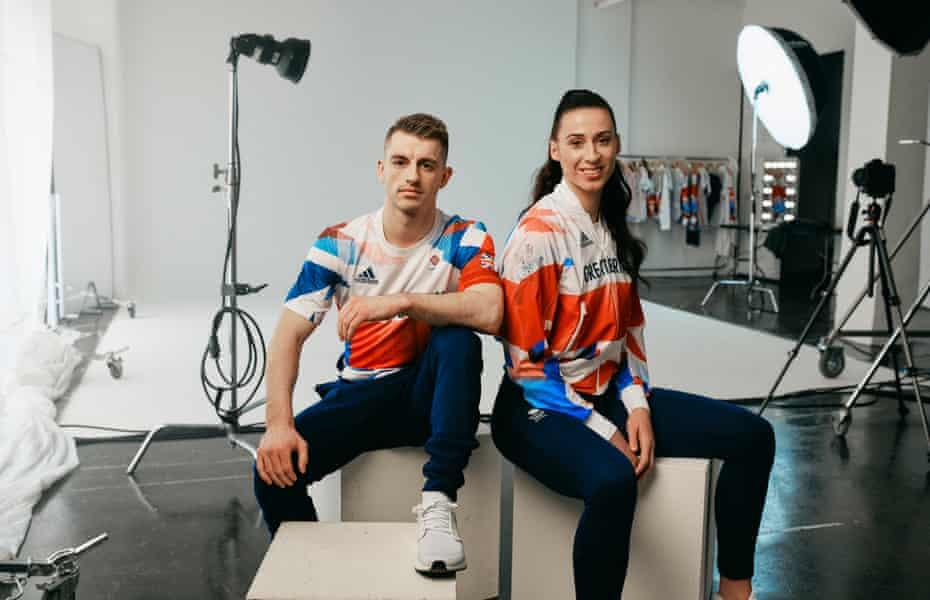 Team GB athletes Max Whitlock and Bianca Walkden.