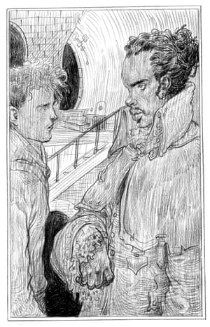 Marquis de Carabas (and Richard) from Chris Riddell's illustrated edition of Neil Gaiman's Neverwhere