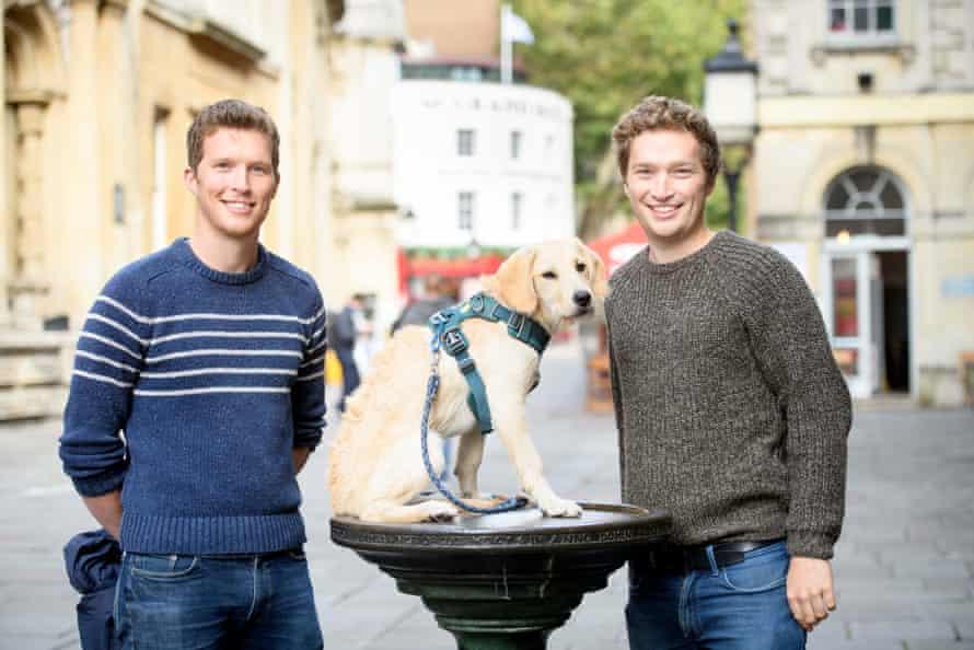 Owners of the Brozen Bar, Joe (left) and Ben Edgerley, in Corn Street, Bristol