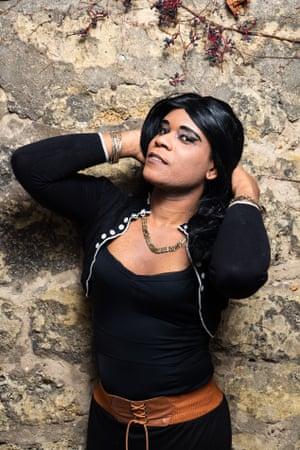 Céline Rodriguez Cairo (38), a transgender Cuban refugee